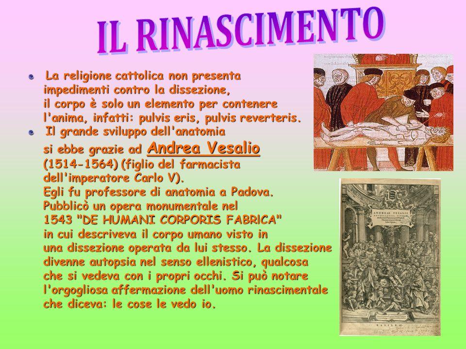 IL RINASCIMENTO La religione cattolica non presenta