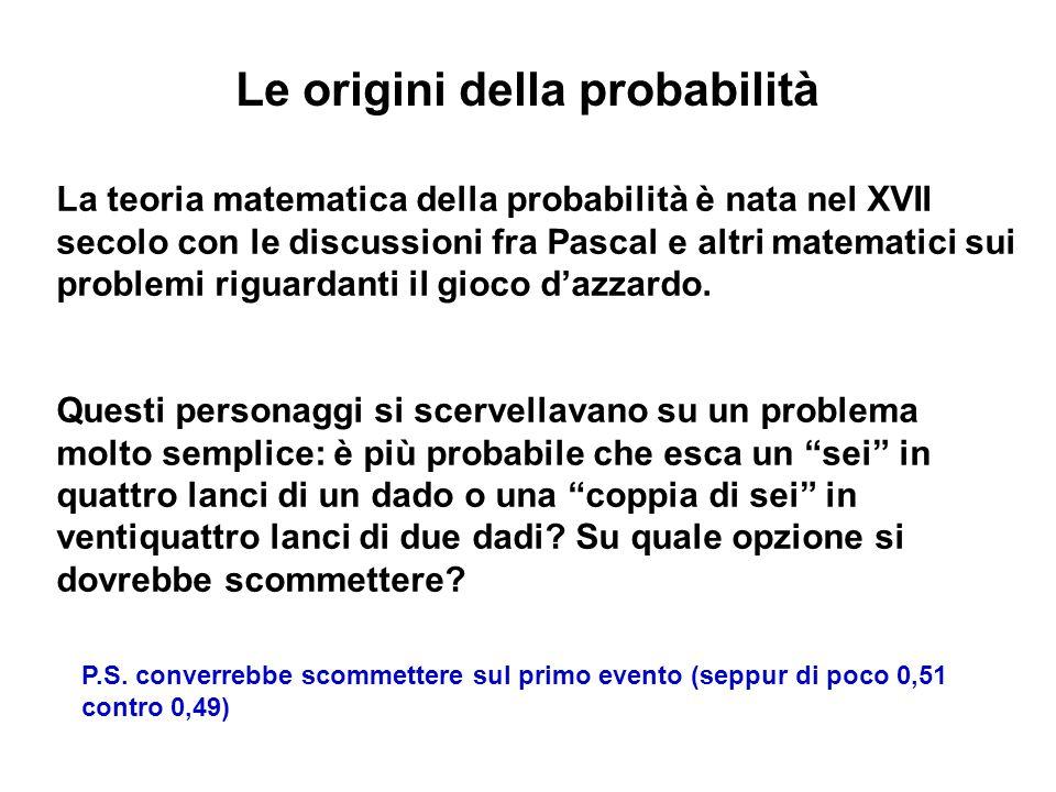 Le origini della probabilità