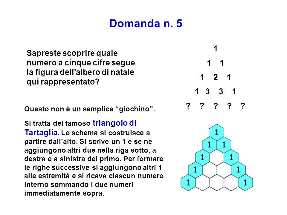 Domanda n. 5 1. 1 2 1. 3 3 1.