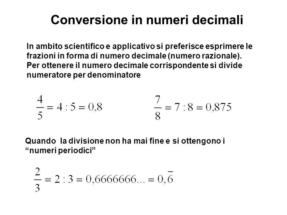 Conversione in numeri decimali