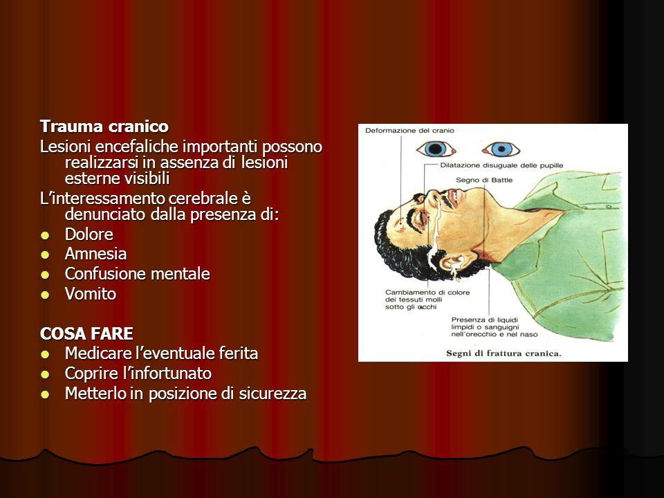 Trauma cranico Lesioni encefaliche importanti possono realizzarsi in assenza di lesioni esterne visibili.