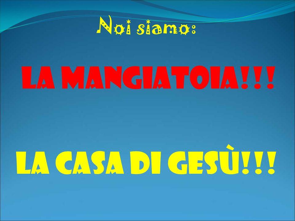Noi siamo: La mangiatoia!!! LA CASA DI GESù!!!
