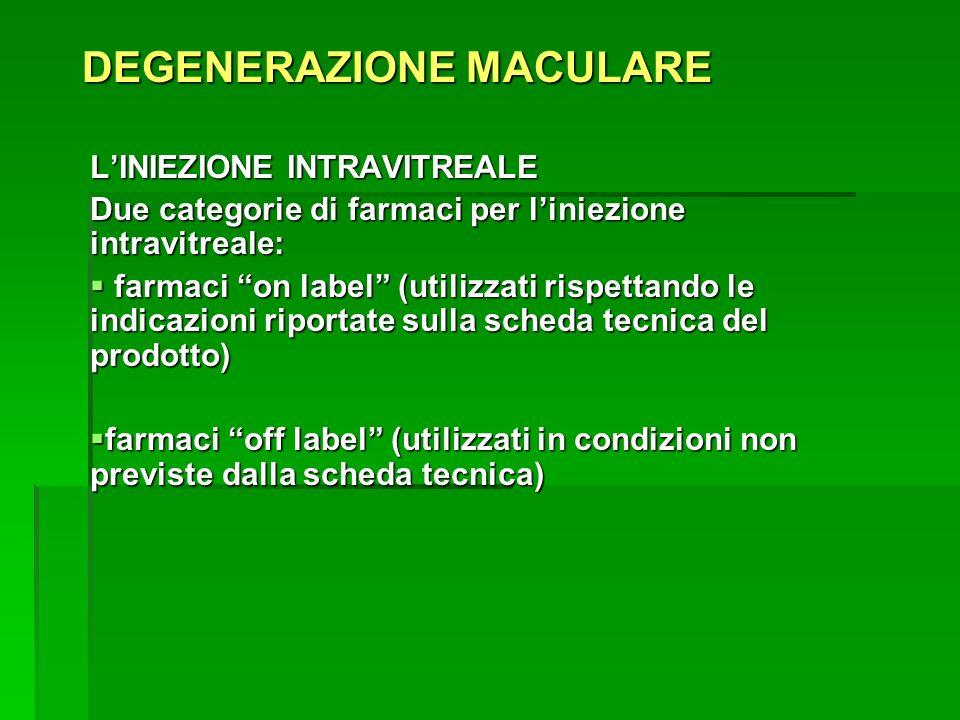 DEGENERAZIONE MACULARE