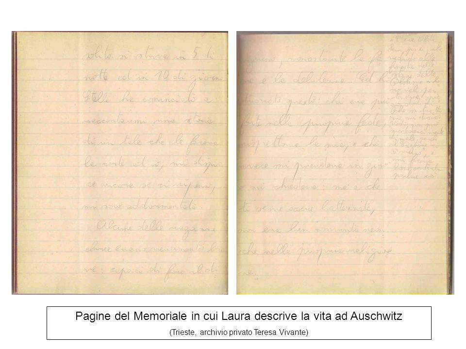 Pagine del Memoriale in cui Laura descrive la vita ad Auschwitz