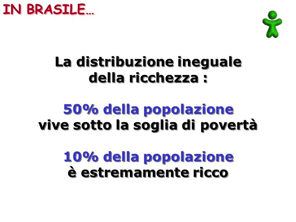 La distribuzione ineguale vive sotto la soglia di povertà