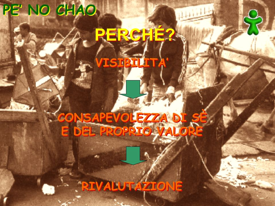 PERCHÉ PE' NO CHAO VISIBILITA' CONSAPEVOLEZZA DI SÈ