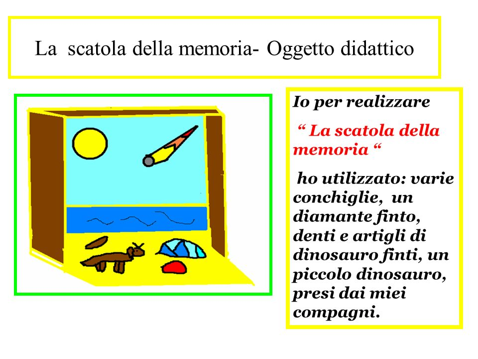 La scatola della memoria- Oggetto didattico