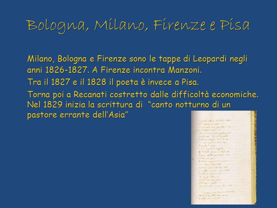 Bologna, Milano, Firenze e Pisa