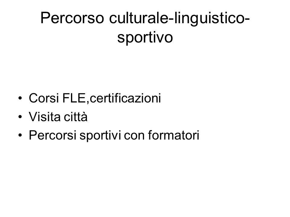 Percorso culturale-linguistico-sportivo