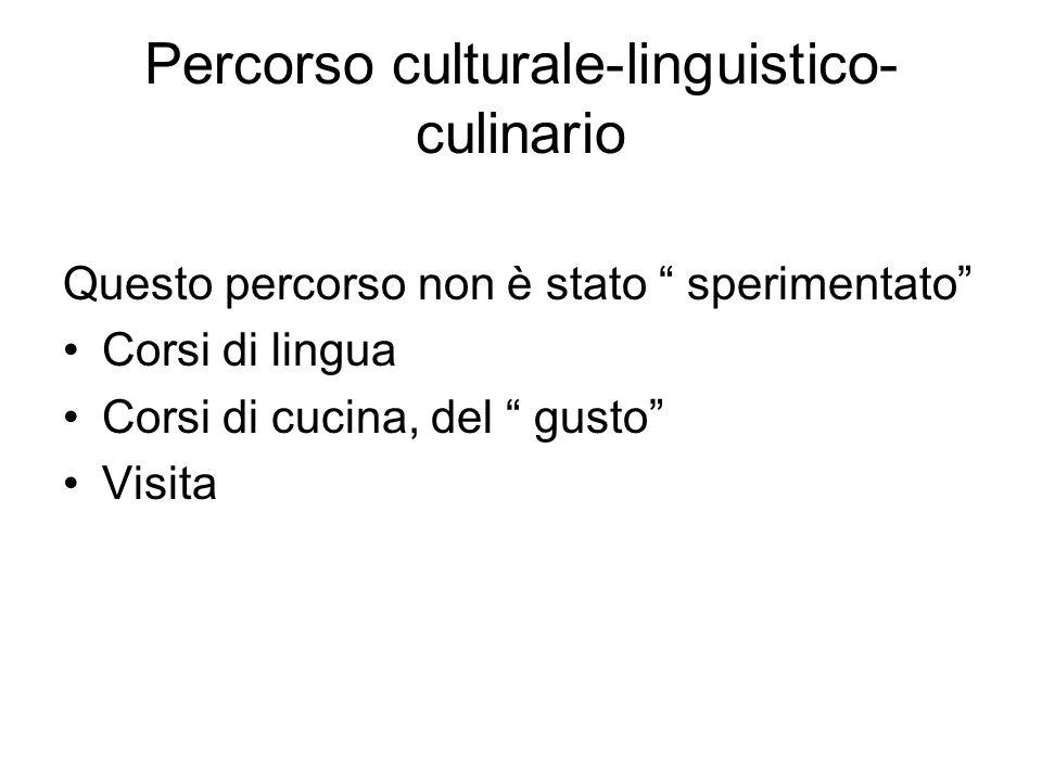 Percorso culturale-linguistico-culinario