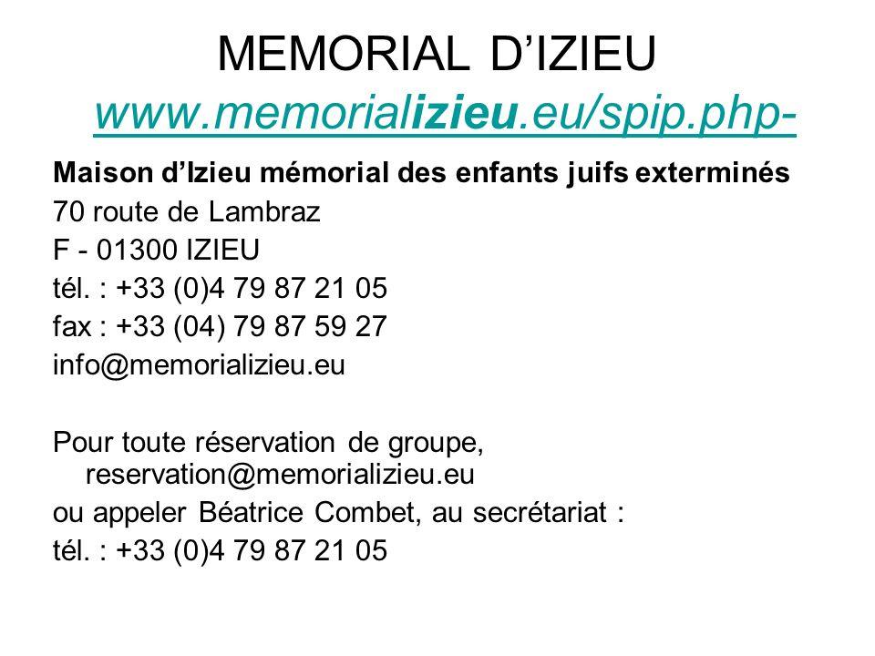 MEMORIAL D'IZIEU www.memorializieu.eu/spip.php-