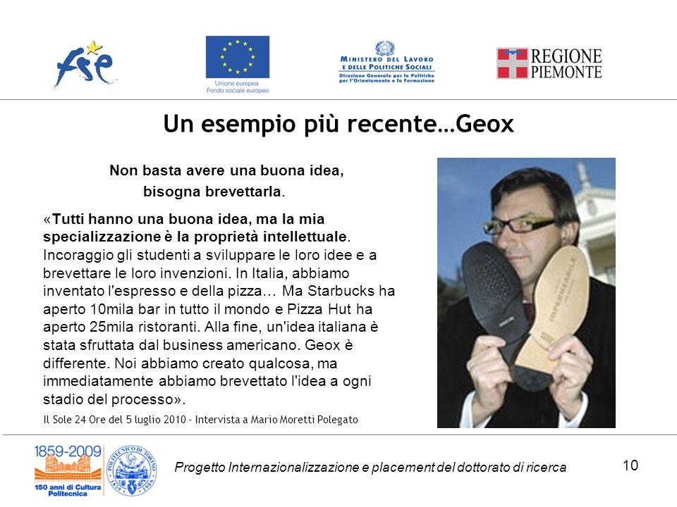 Un esempio più recente…Geox