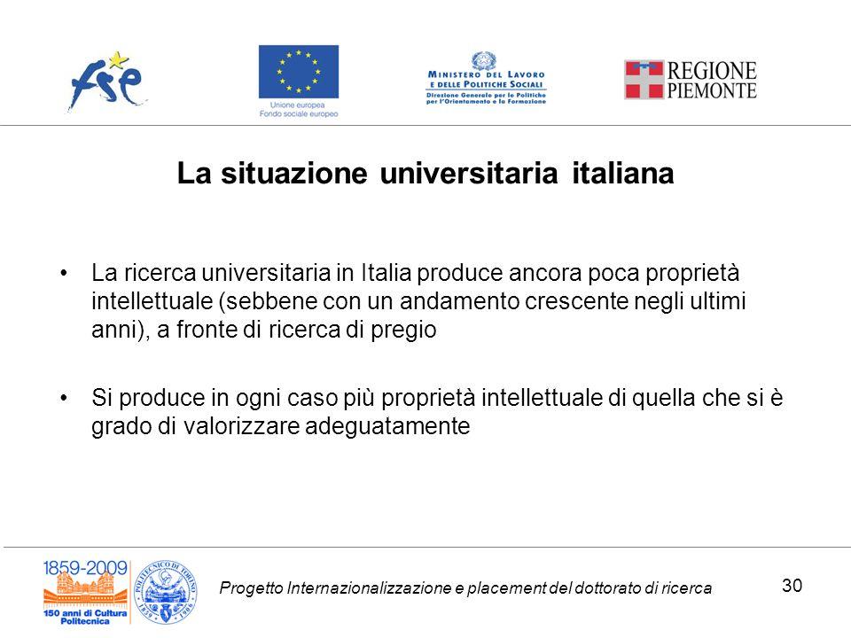 La situazione universitaria italiana