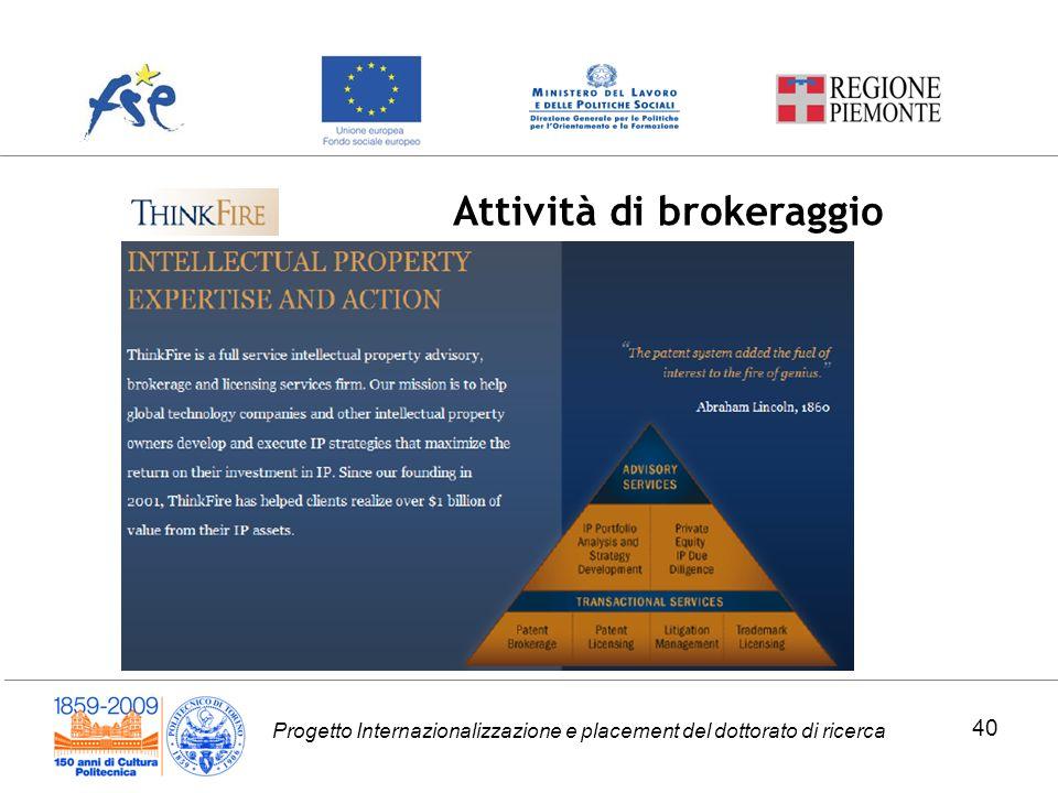Attività di brokeraggio