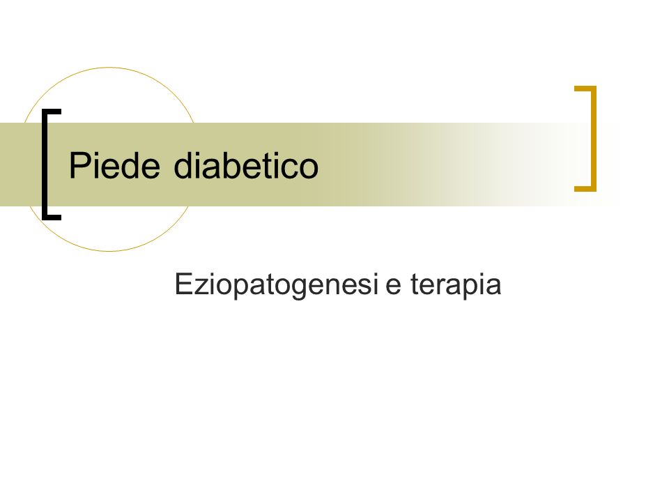 Eziopatogenesi e terapia