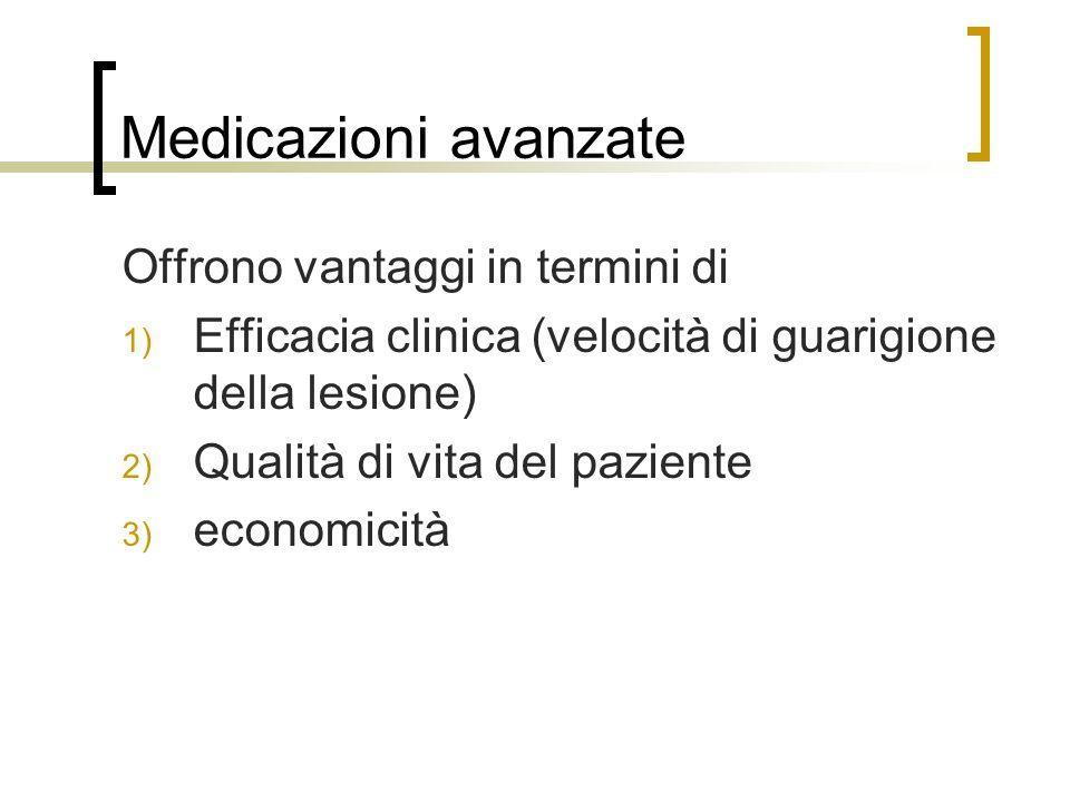 Medicazioni avanzate Offrono vantaggi in termini di