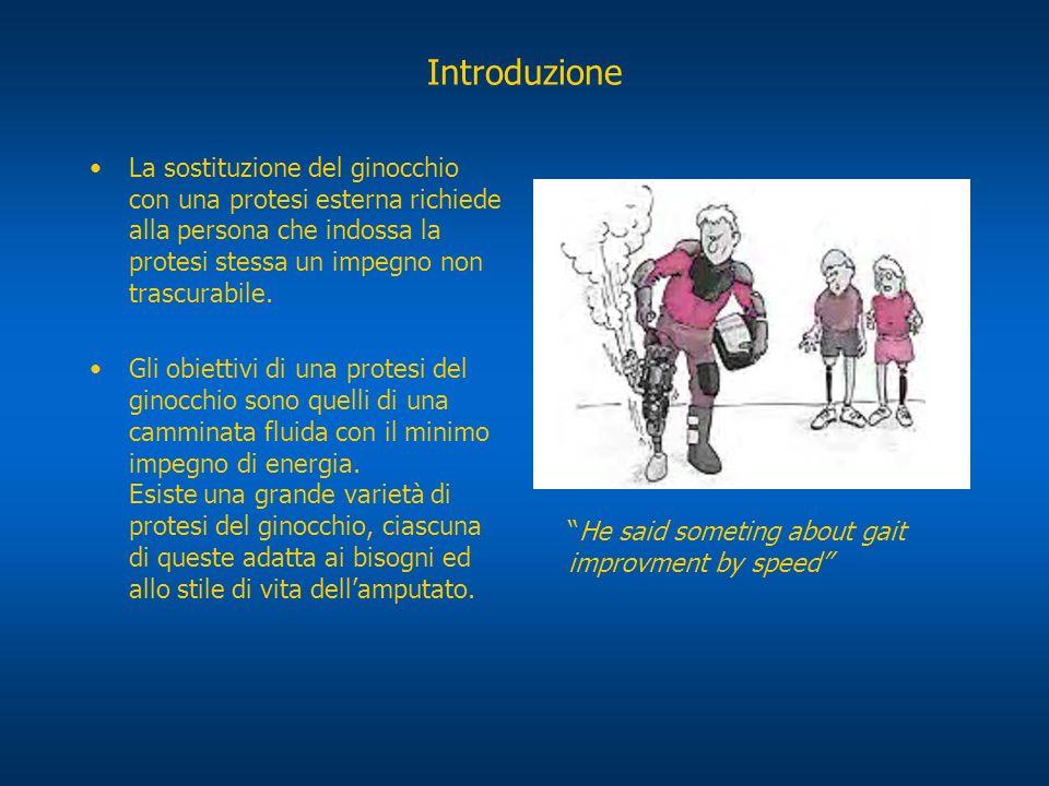 Introduzione La sostituzione del ginocchio con una protesi esterna richiede alla persona che indossa la protesi stessa un impegno non trascurabile.