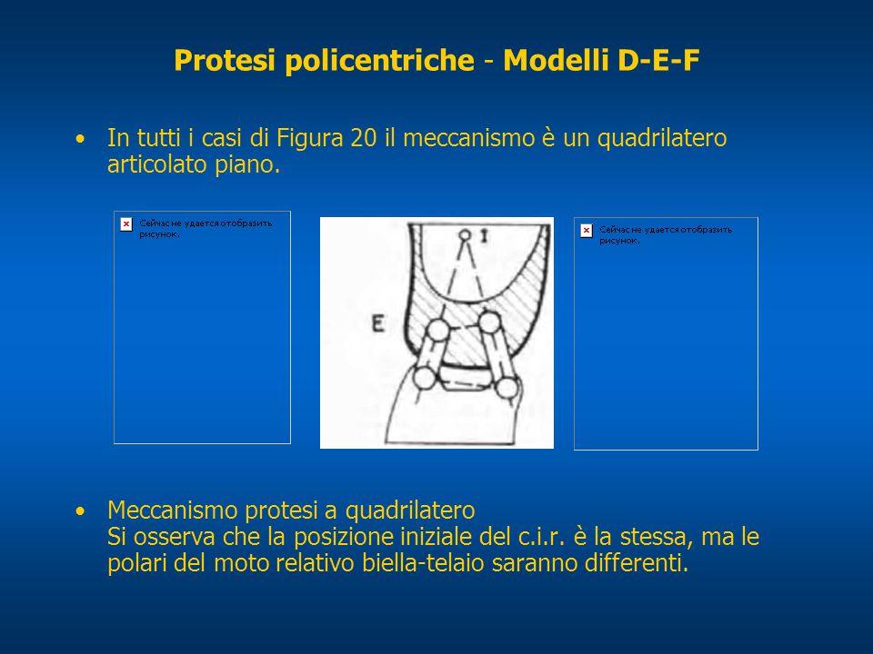 Protesi policentriche - Modelli D-E-F