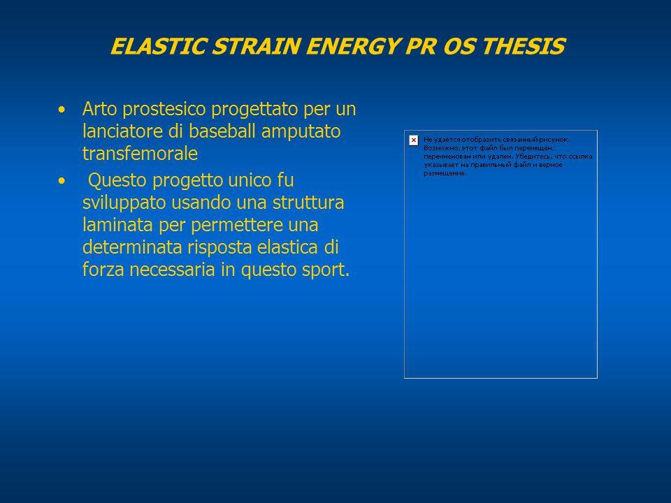 ELASTIC STRAIN ENERGY PR OS THESIS