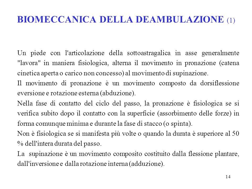 BIOMECCANICA DELLA DEAMBULAZIONE (1)
