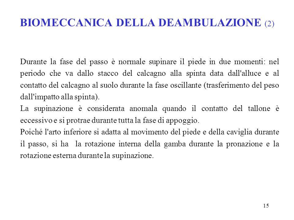 BIOMECCANICA DELLA DEAMBULAZIONE (2)