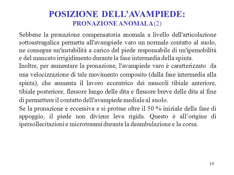 POSIZIONE DELL'AVAMPIEDE: PRONAZIONE ANOMALA (2)