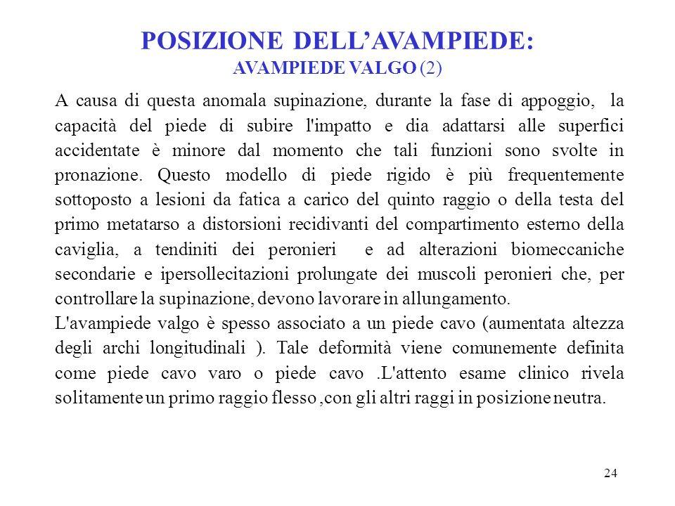 POSIZIONE DELL'AVAMPIEDE: AVAMPIEDE VALGO (2)
