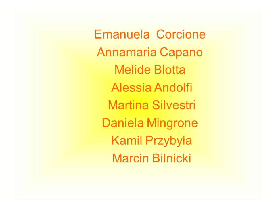 Emanuela Corcione Annamaria Capano. Melide Blotta. Alessia Andolfi. Martina Silvestri. Daniela Mingrone.