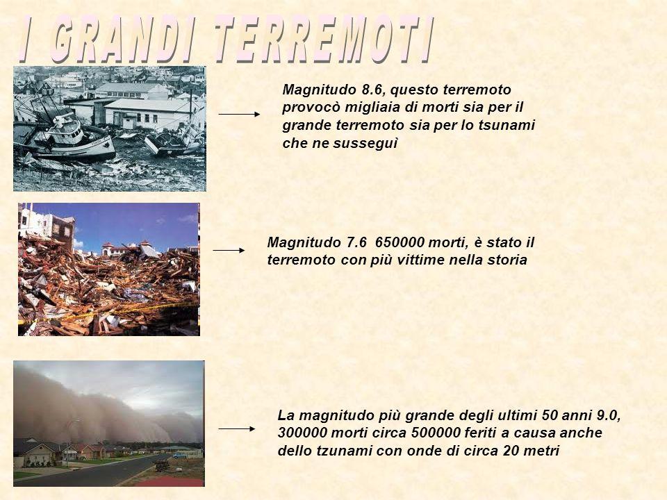 I GRANDI TERREMOTI Magnitudo 8.6, questo terremoto provocò migliaia di morti sia per il grande terremoto sia per lo tsunami che ne susseguì.