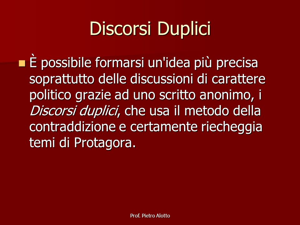 Discorsi Duplici