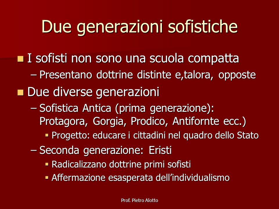 Due generazioni sofistiche
