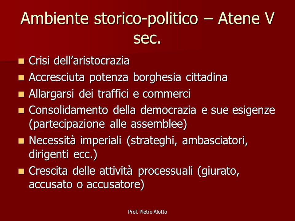 Ambiente storico-politico – Atene V sec.