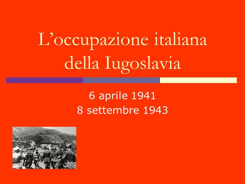 L'occupazione italiana della Iugoslavia