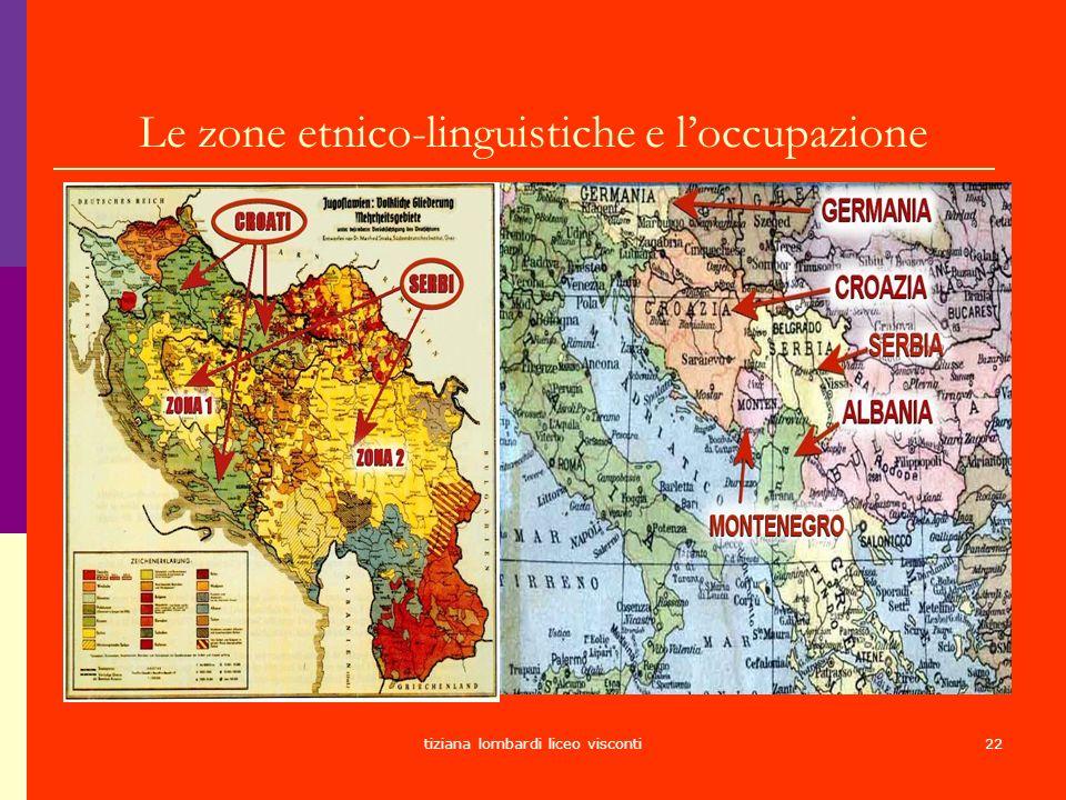 Le zone etnico-linguistiche e l'occupazione