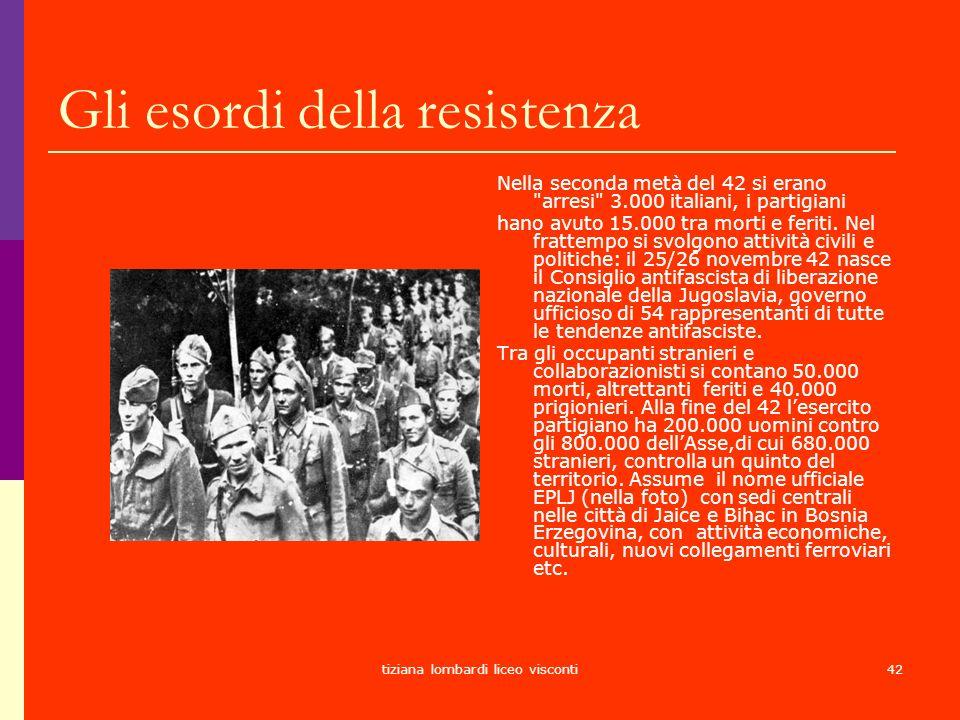 Gli esordi della resistenza