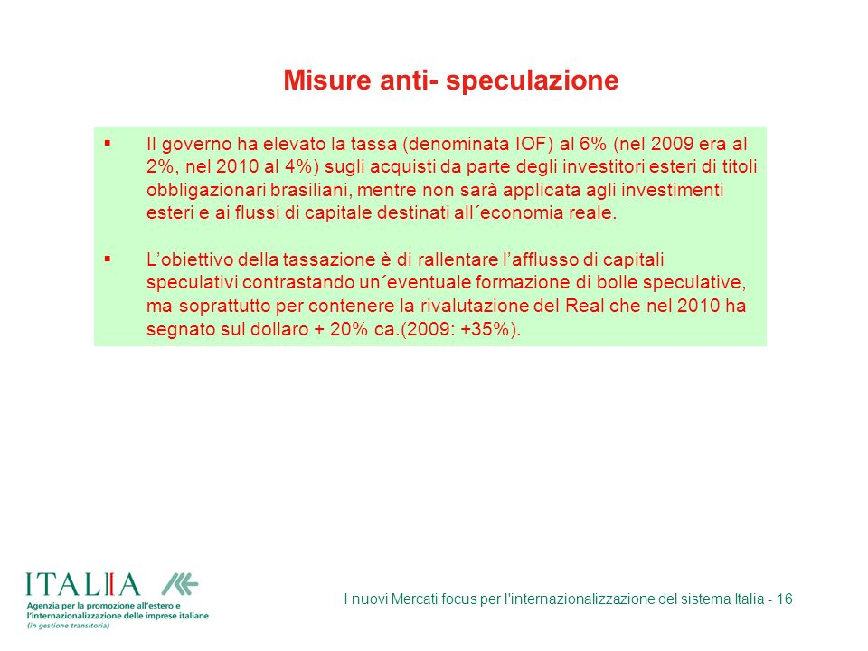 Misure anti- speculazione