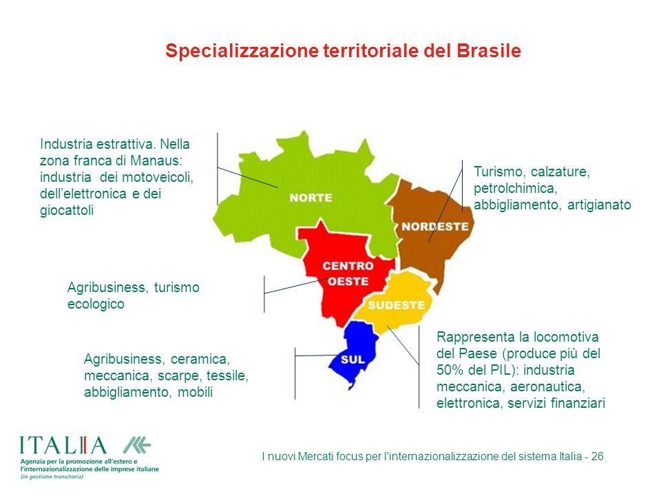 Specializzazione territoriale del Brasile