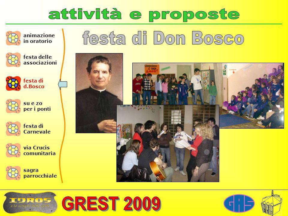 attività e proposte festa di Don Bosco animazione in oratorio