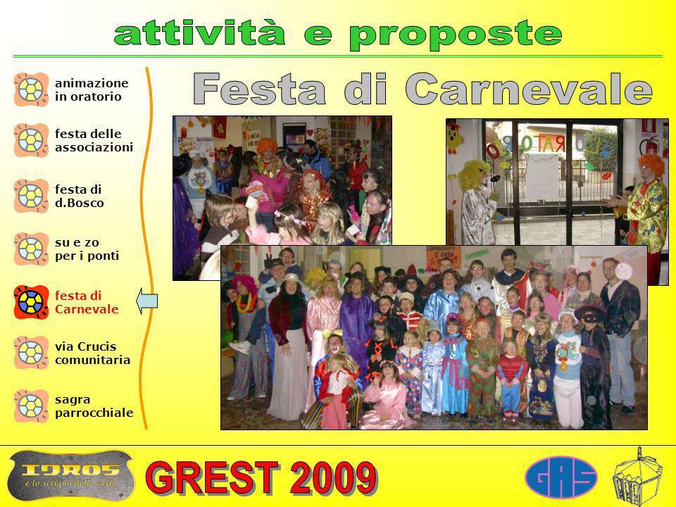 attività e proposte Festa di Carnevale animazione in oratorio