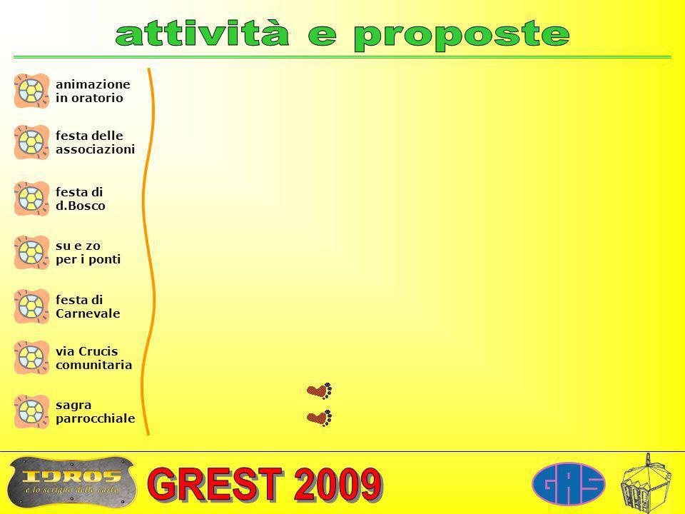 attività e proposte animazione in oratorio festa delle associazioni
