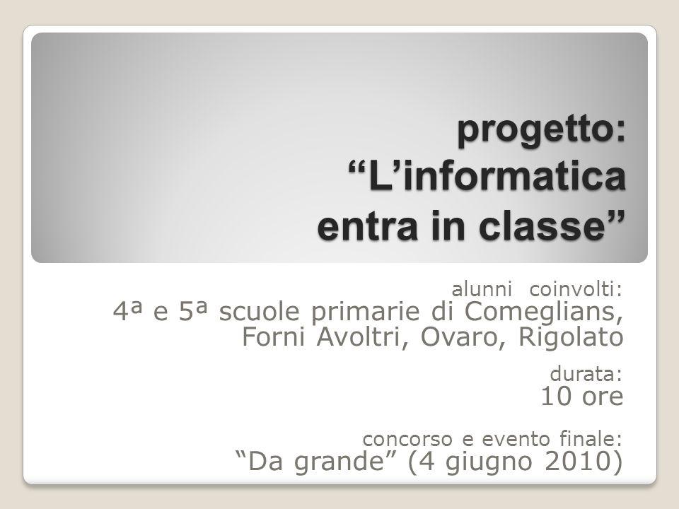 progetto: L'informatica entra in classe