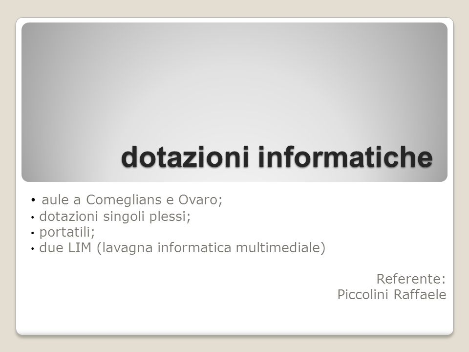 dotazioni informatiche