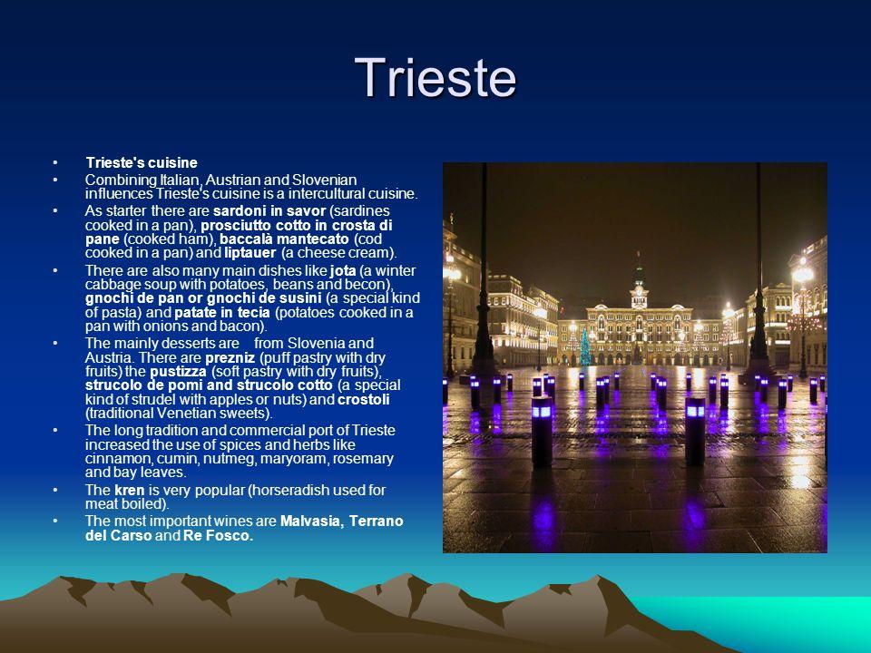 Trieste Trieste s cuisine