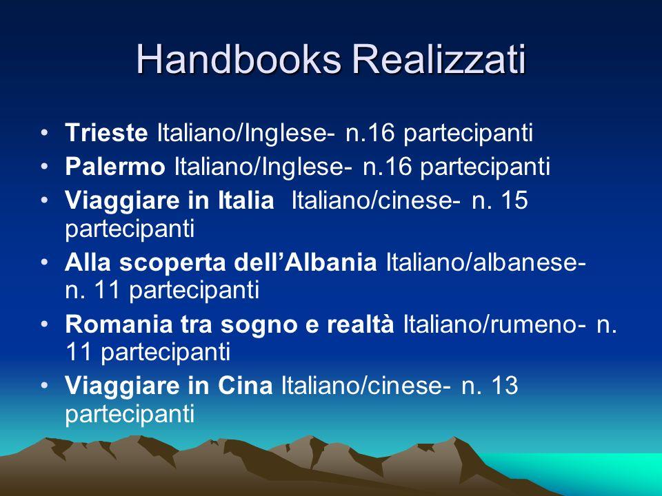 Handbooks Realizzati Trieste Italiano/Inglese- n.16 partecipanti