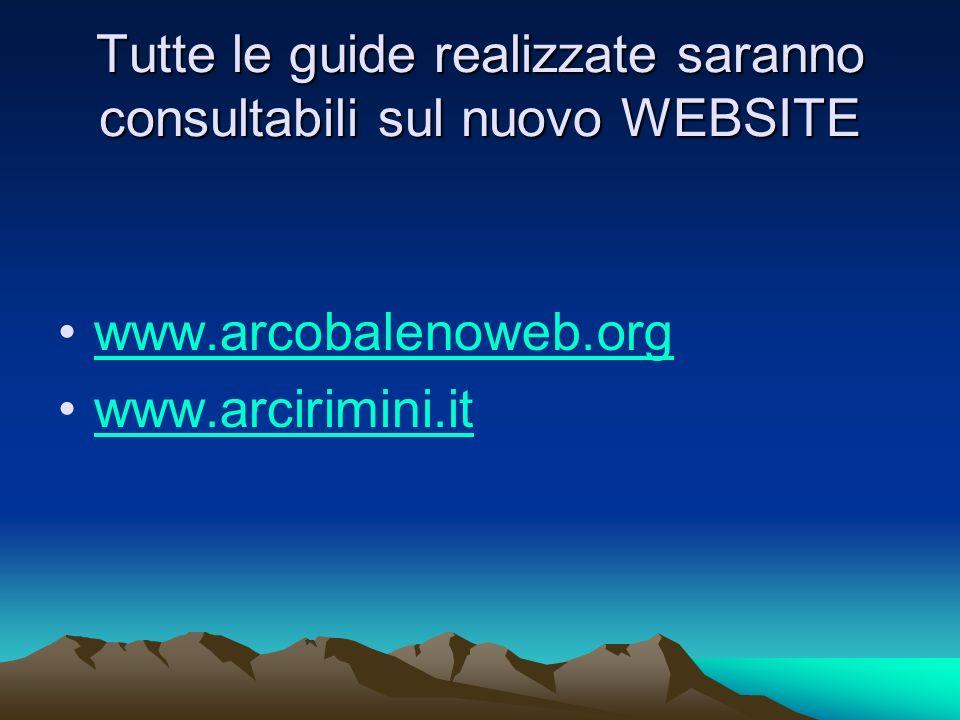 Tutte le guide realizzate saranno consultabili sul nuovo WEBSITE