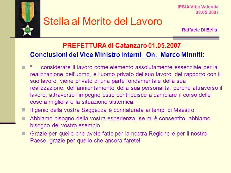 PREFETTURA di Catanzaro 01.05.2007