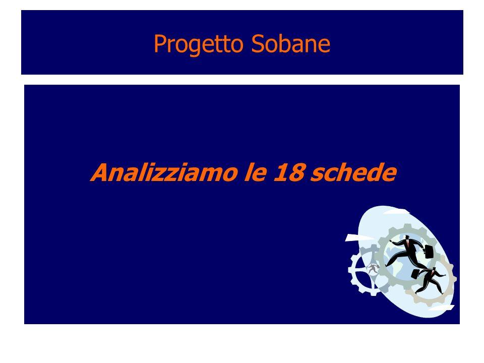 Progetto Sobane Analizziamo le 18 schede