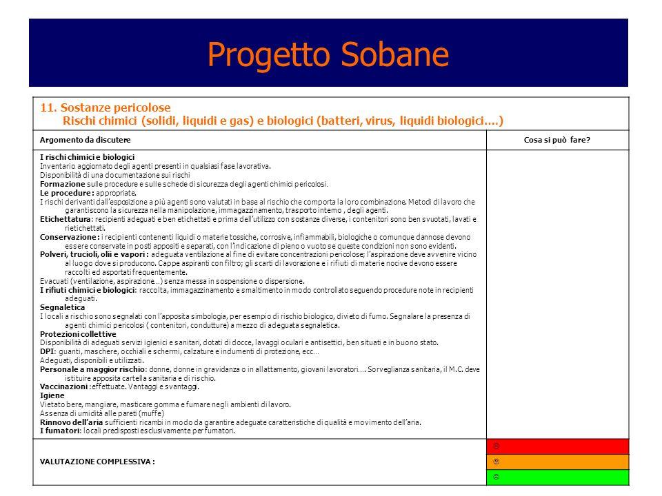 Progetto Sobane 11. Sostanze pericolose