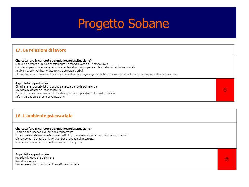 Progetto Sobane   17. Le relazioni di lavoro