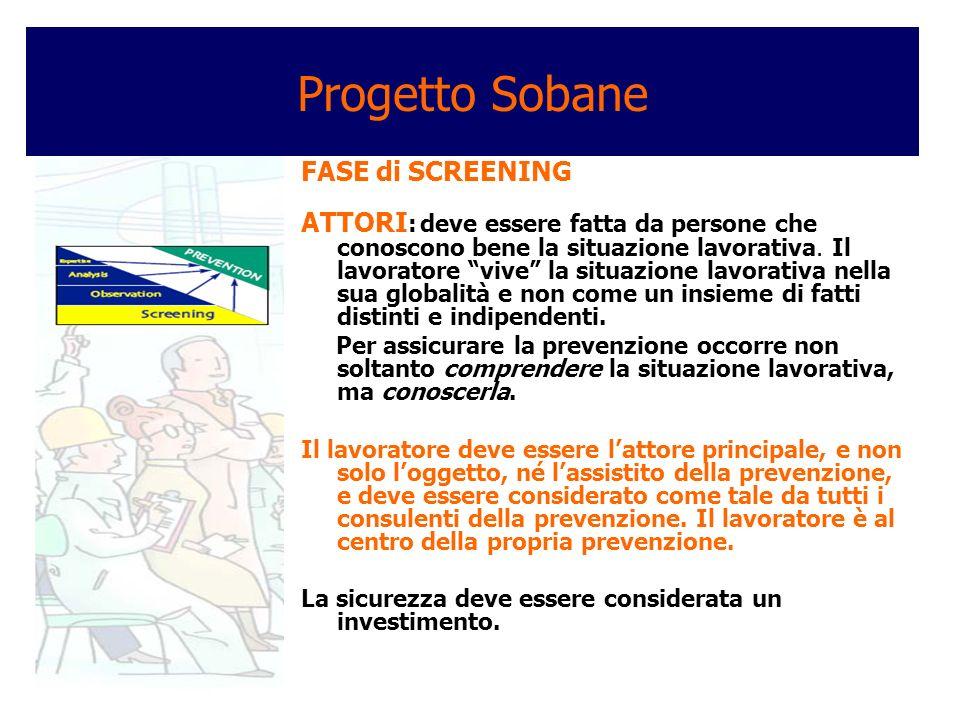 Progetto Sobane FASE di SCREENING